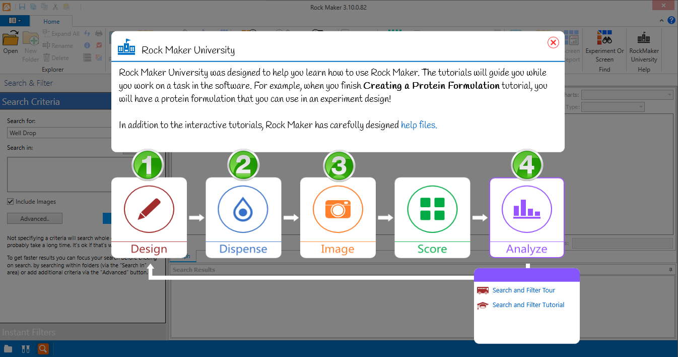 Learn about Search and Filter with Rock Maker University 2