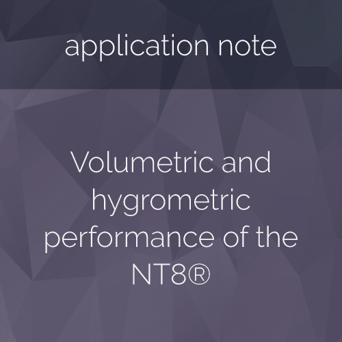 Volumetric and hygrometric performance of the NT8®